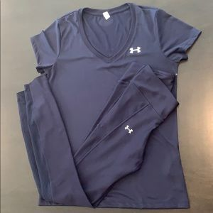 Under Armour Women's Navy Workout SET Size Small
